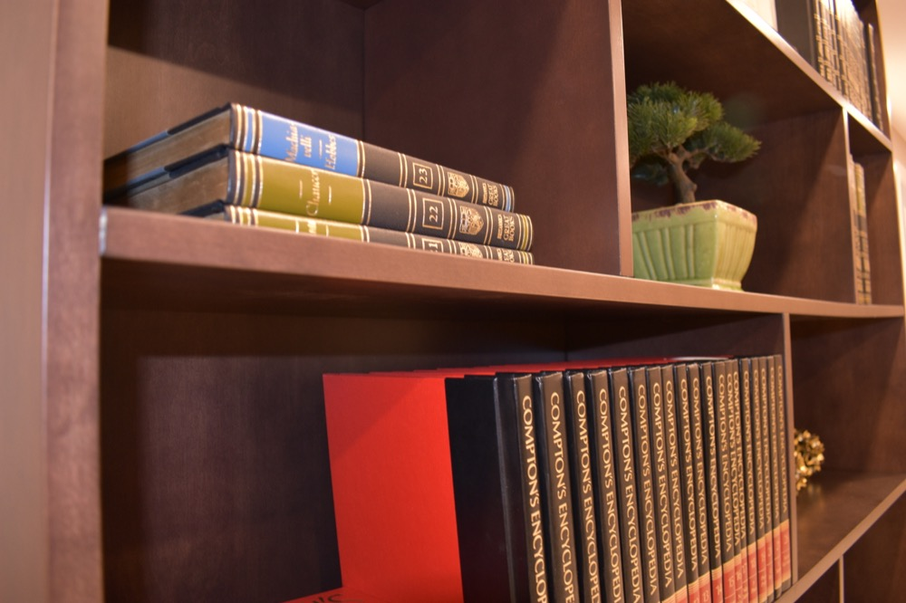 custom book cases, library idea design, home office