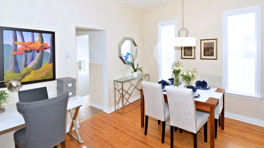 staging dining area with office space classic design